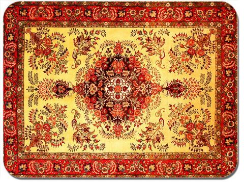 Persian Rug Design Print Mouse Mat. Vintage Carpet Print Quality Mouse Pad #10
